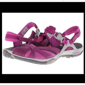 Merrell Women's Azura Wrap Sandals in Deep Purple